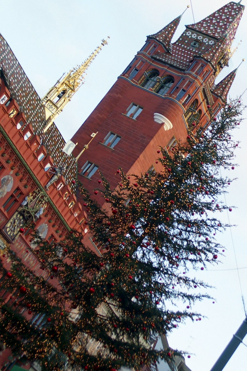 Basel Rathaus at Christmas