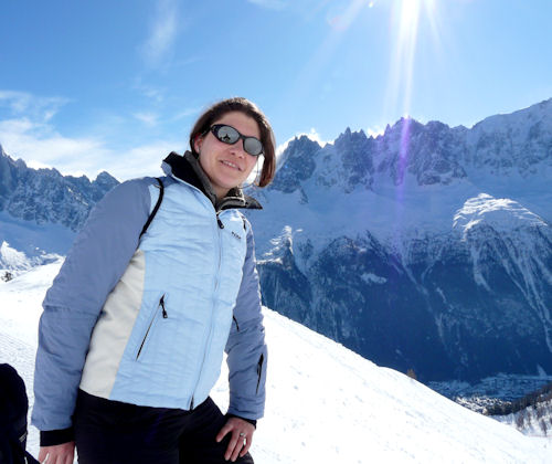 Aude in Chamonix