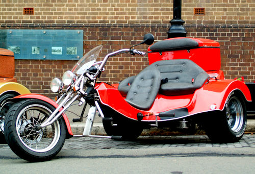 Customised trike motorcycle