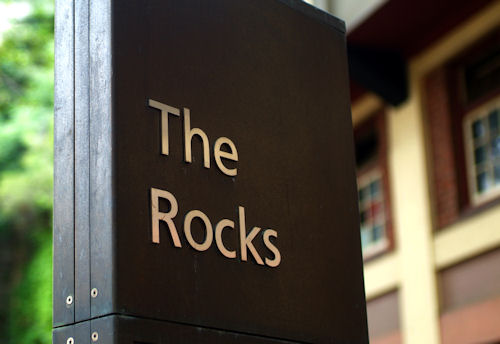 Sign for The Rocks, Sydney