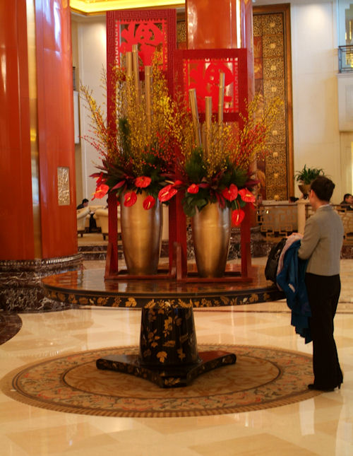 Lobby of China World Hotel, Beijing
