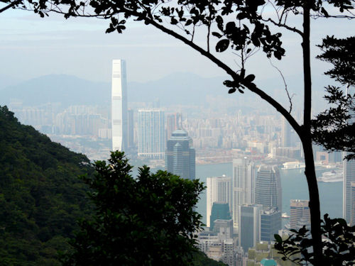 Hong Kong skyline, as seen from The Peak