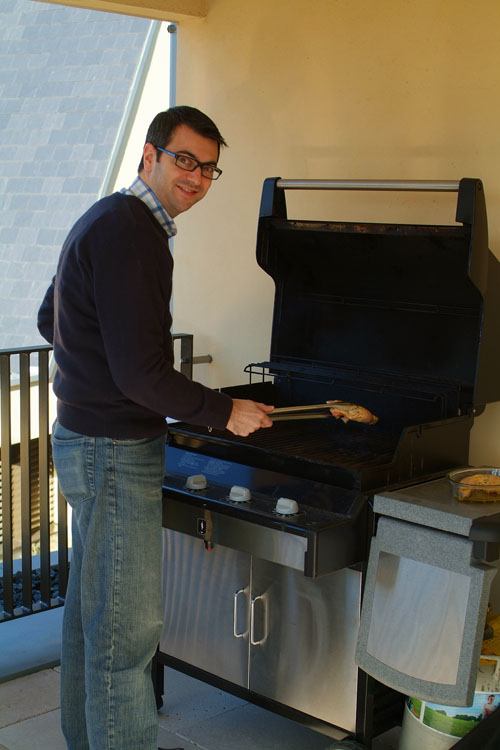 Barbecuing in January