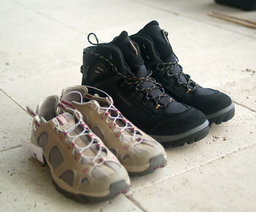 Men's and Women's hiking boots