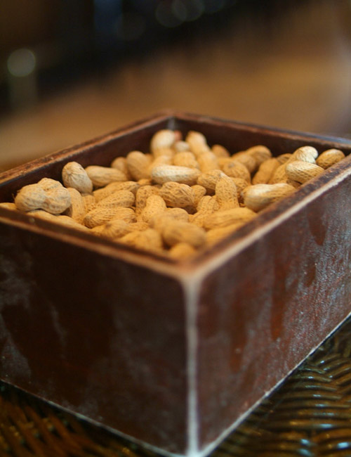 Peanuts at Raffles Hotel, Singapore