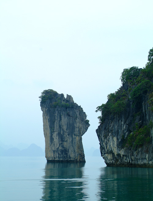 Stone islands in Halong Bay, Vietnam
