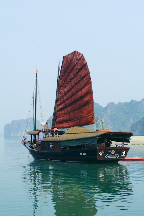 Princess 3 Junk boat in Halong Bay