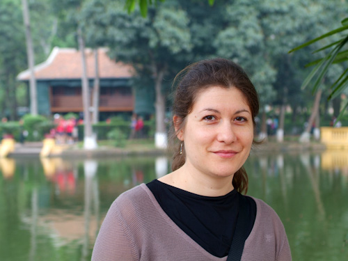 Aude in front of Ho Chi Minh's House