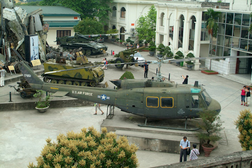 American military hardware at Hanoi Military History Museum