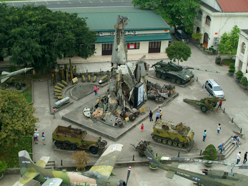 Courtyard of the Hanoi Military History Museum as seen from the Cot Co flag tower