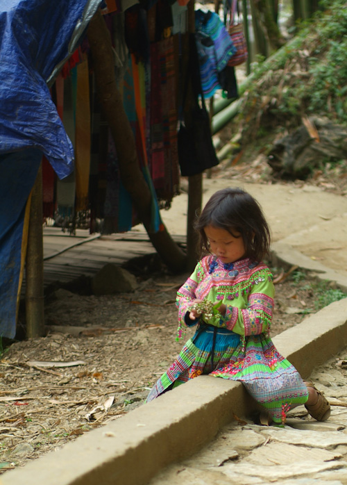 Hmong child at play