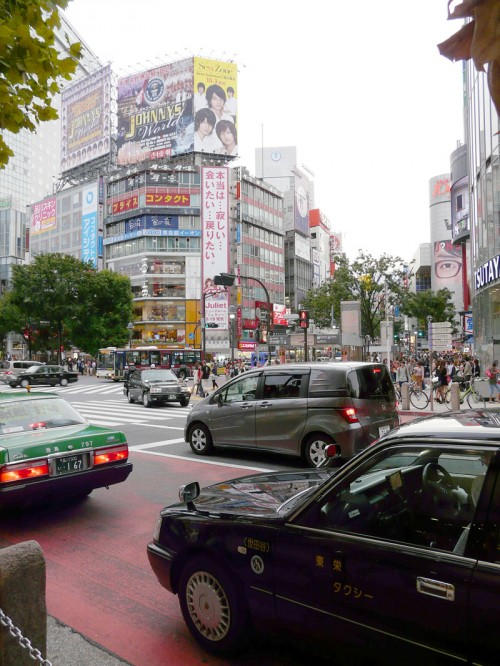 Shibuya Crossing, Tokyo.  I wish I had a video camera to show the crossing in action.
