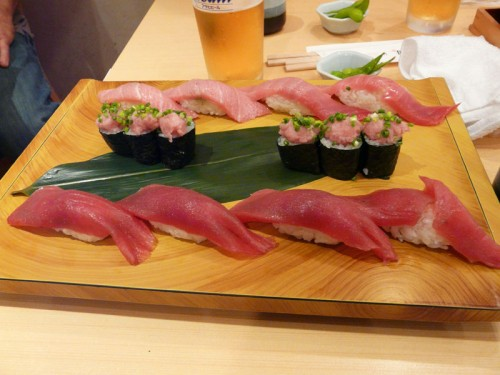 No visit to Tokyo would be complete without a visit to a sushi bar.